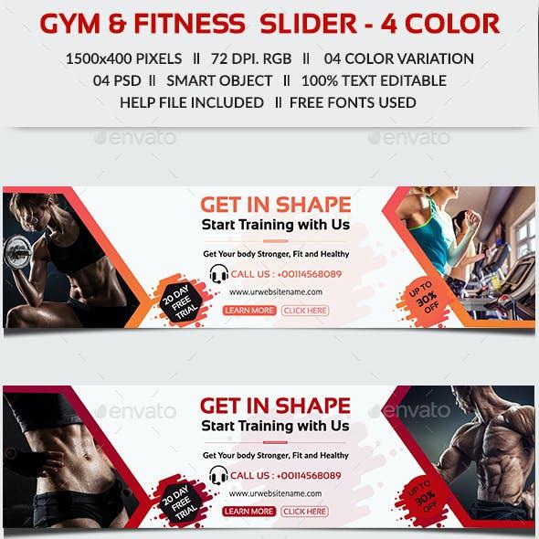 Gym & Fitness Slider
