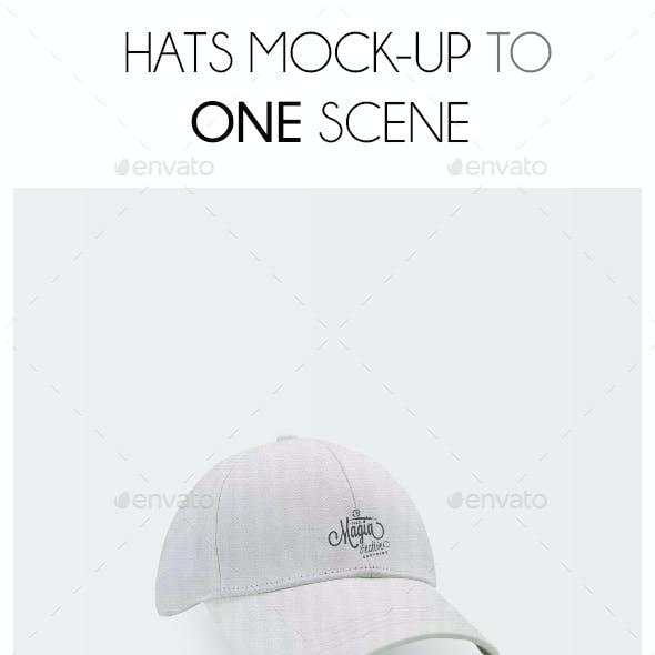Hats Mockup Scene
