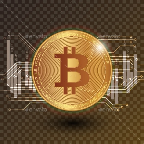 Bitcoin Stock Vector Illustration - Backgrounds Business