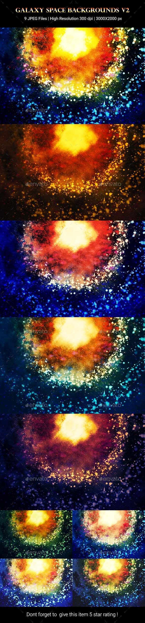 Galaxy Space Backgrounds v2 - Abstract Backgrounds