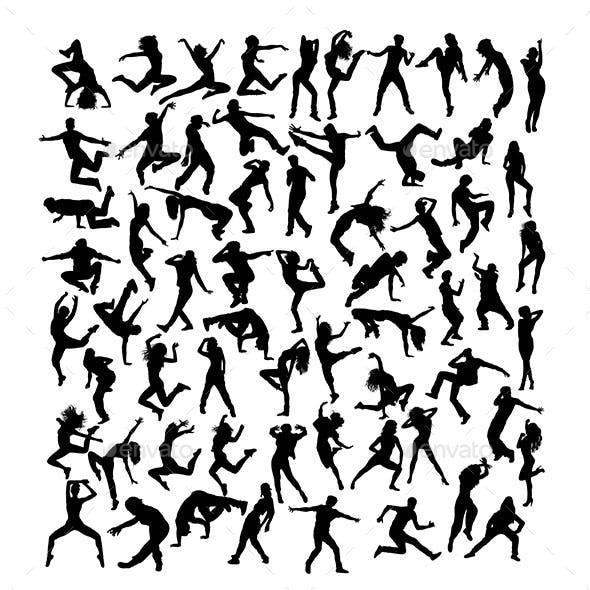 Modern Dancer Silhouettes