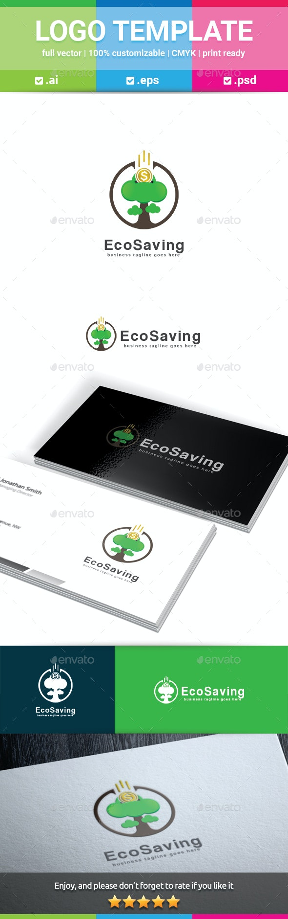 Eco Saving Logo - Nature Logo Templates