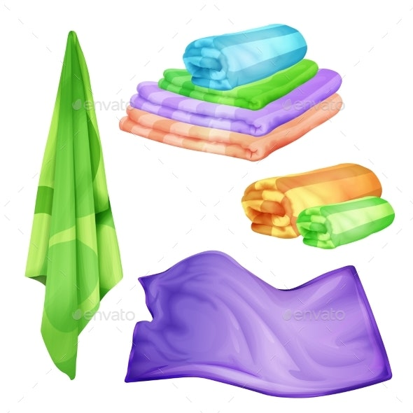 Spa Colored Towel Set - Man-made Objects Objects