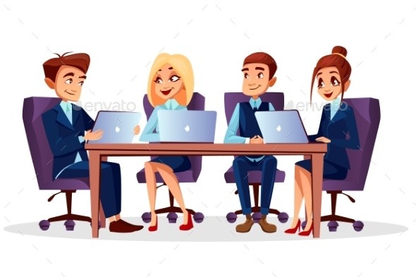 Vector Cartoon Business Meeting - Concepts Business