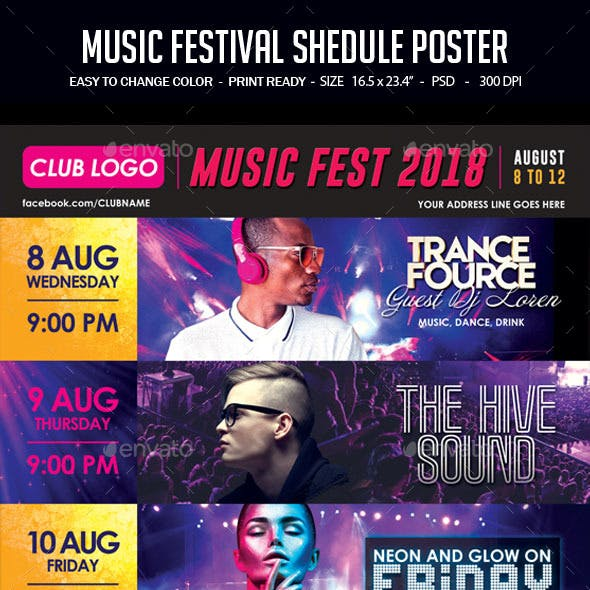 Music Festival Schedule Poster