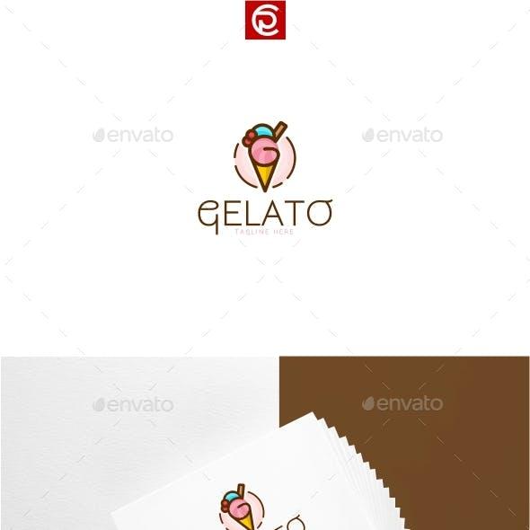 Gelato Ice Cream Logo