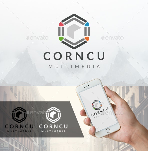 Cube Corner Logo - Vector Abstract