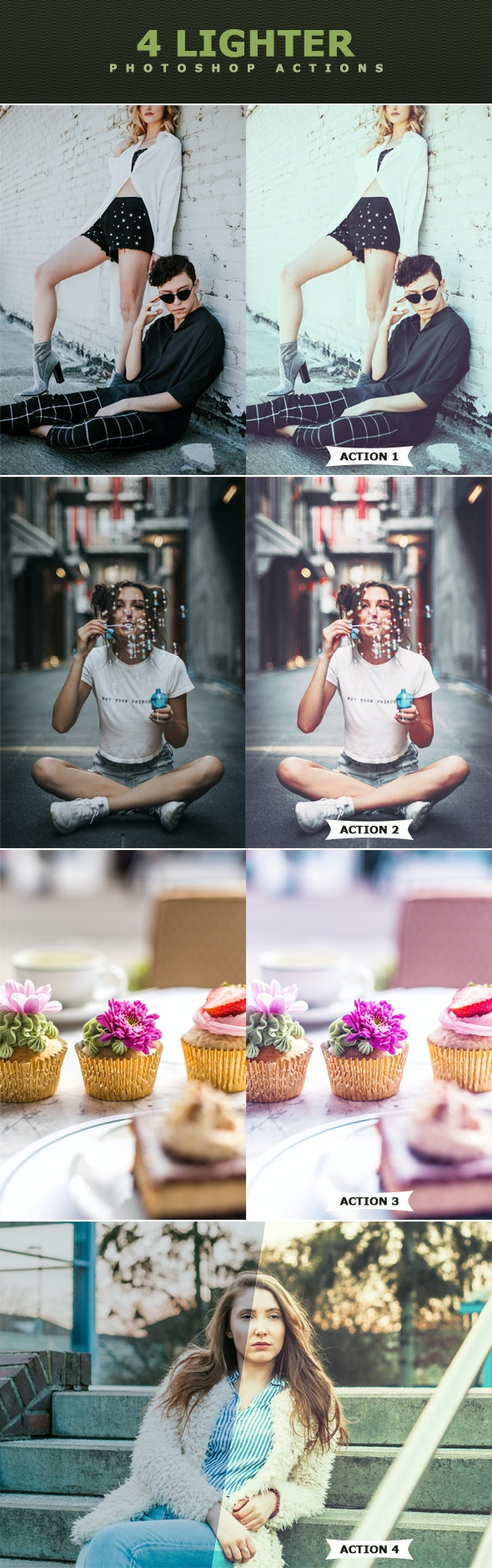 Lighter Photoshop Actions - Photo Effects Actions
