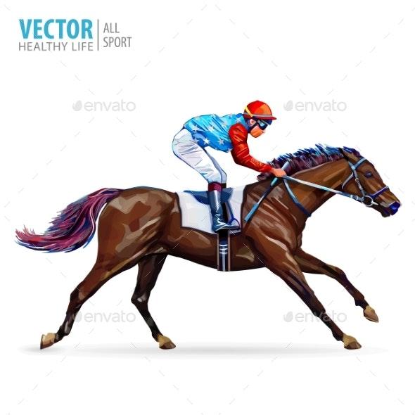 Jockey on Horse - Sports/Activity Conceptual