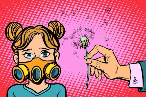Allergy to Dandelion Flowers - Health/Medicine Conceptual