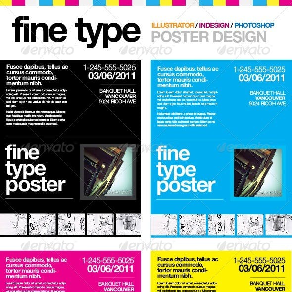 Fine Type Poster Template