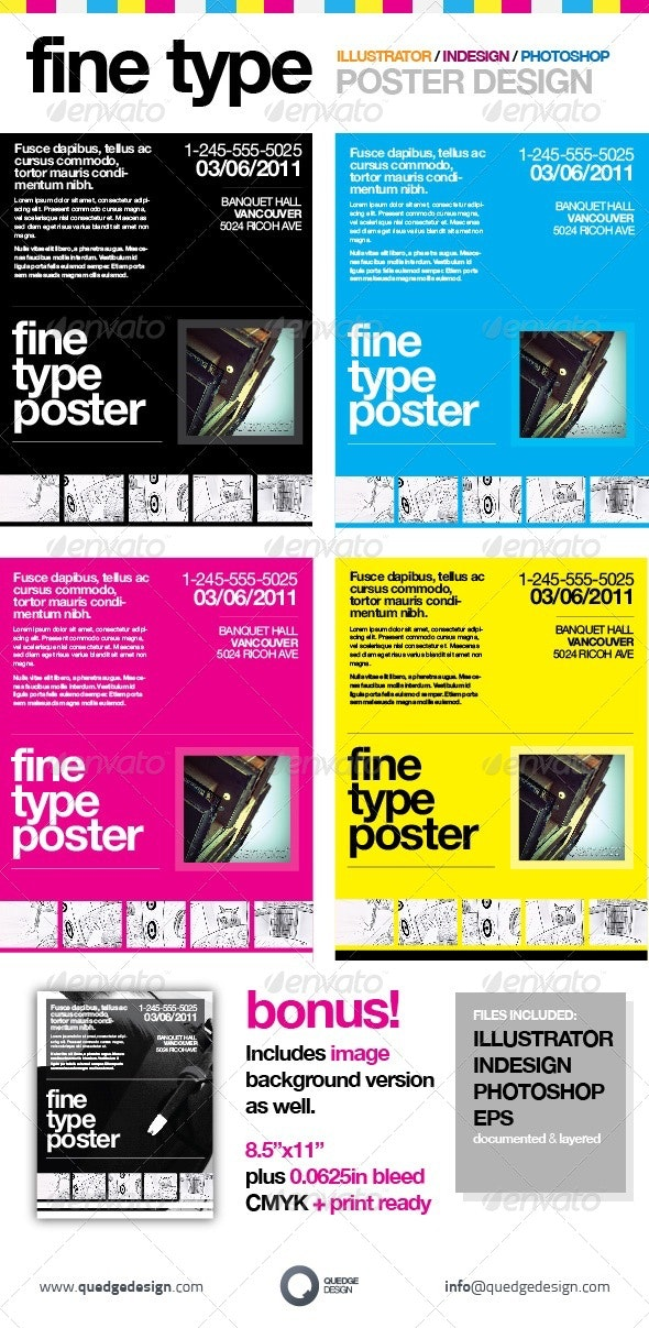 Fine Type Poster Template - Miscellaneous Events