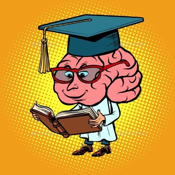 Character Brain University Professor - Miscellaneous Vectors