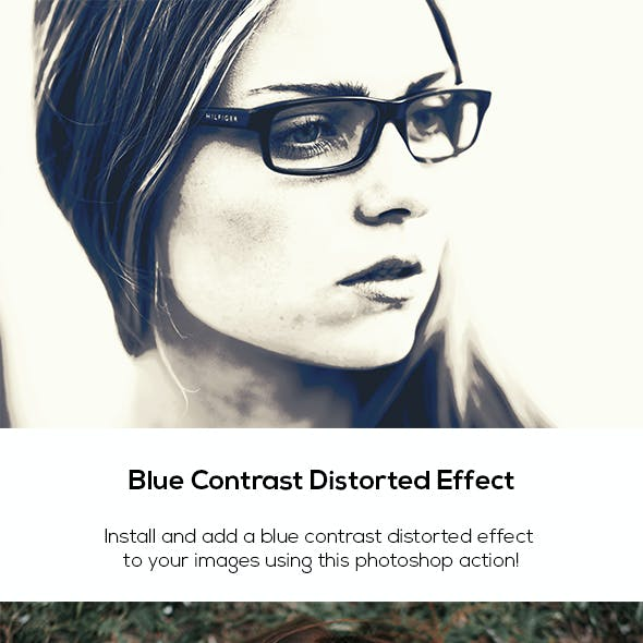 Blue Contrast Distorted Effect