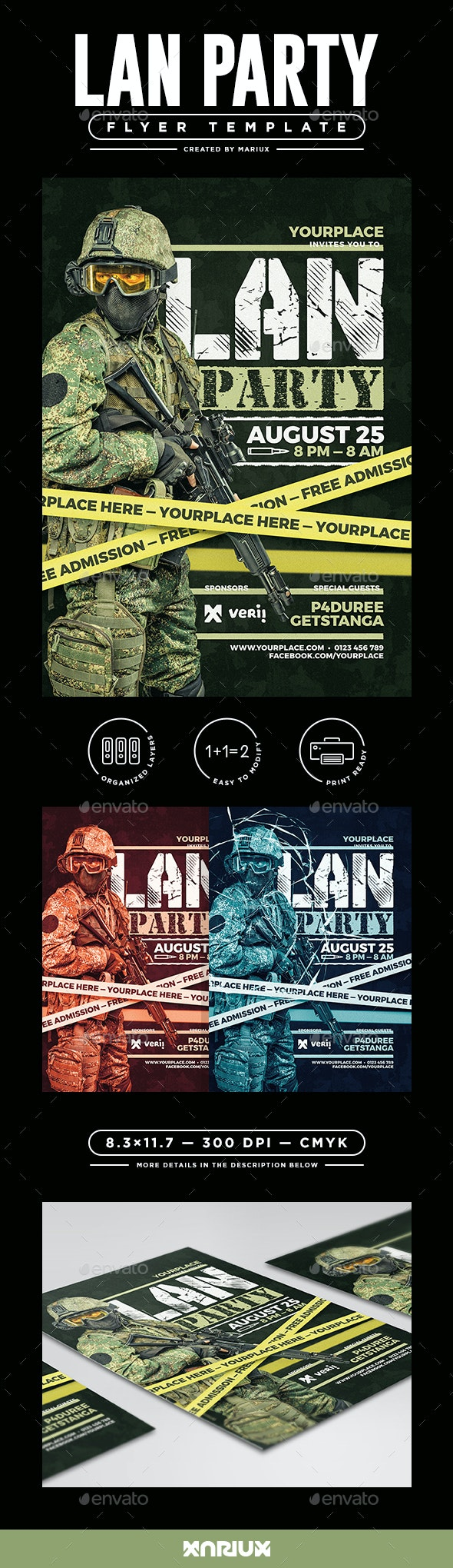 Lan Party Flyer/Poster - Events Flyers