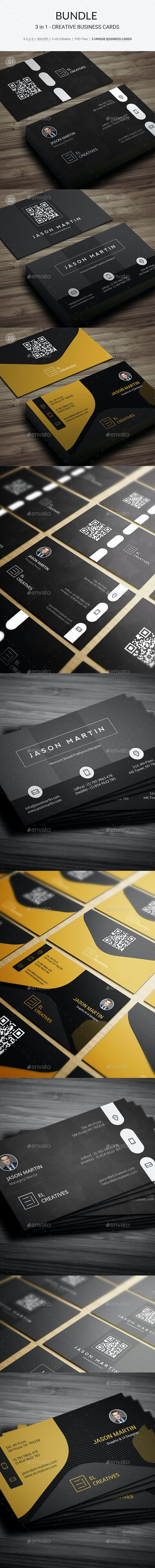 Bundle - 3 in 1 - Creative Business Cards - 180 - Creative Business Cards