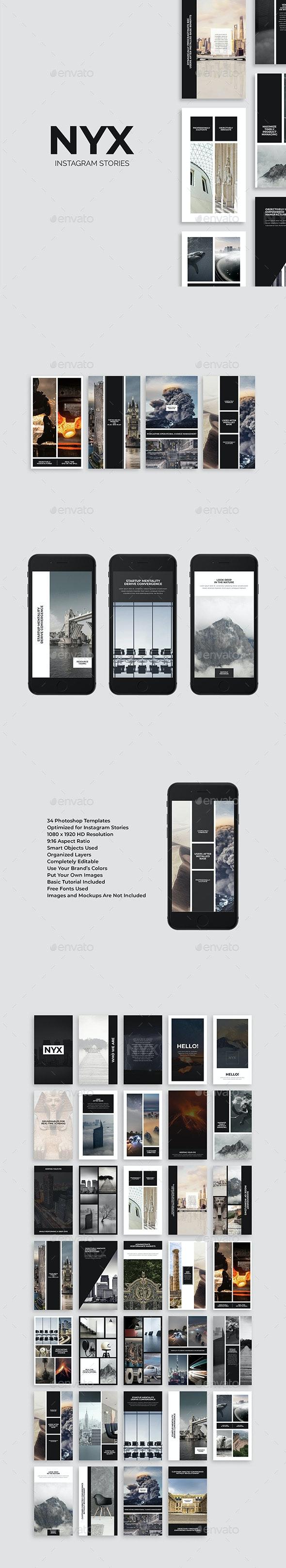 Nyx Instagram Stories - Social Media Web Elements
