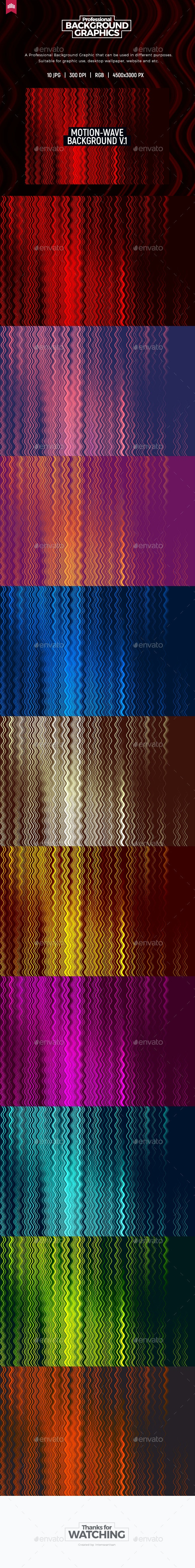 Motion Wave - Background V.1 - Abstract Backgrounds