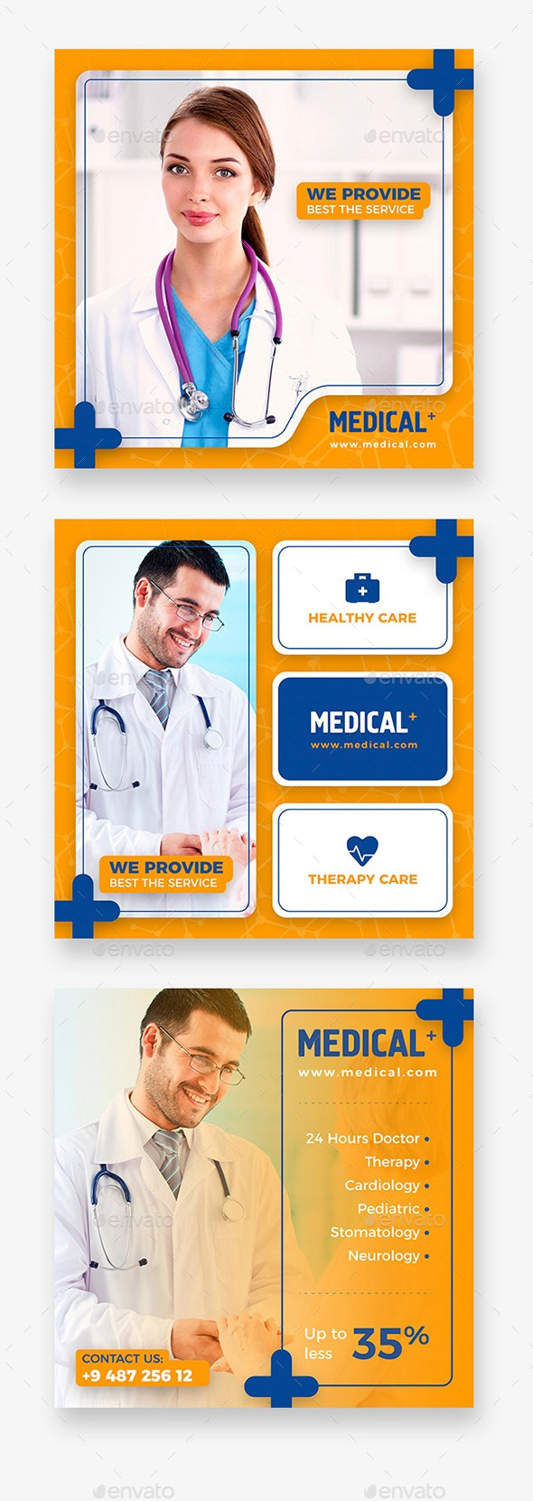 Medical Instagram Banner - Social Media Web Elements