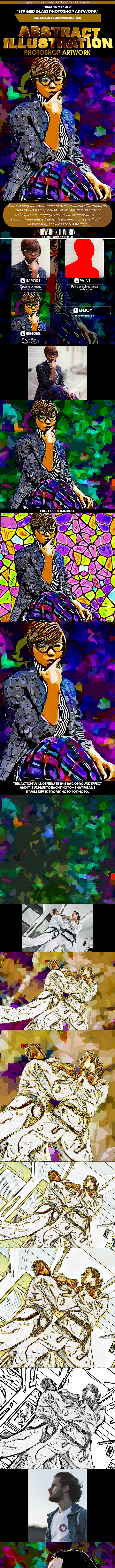 Abstract Illustration Photoshop Artwork - Photo Effects Actions