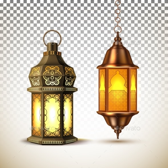 Vector Ramadan Kareem Lamp Lantern Realistic - Miscellaneous Seasons/Holidays