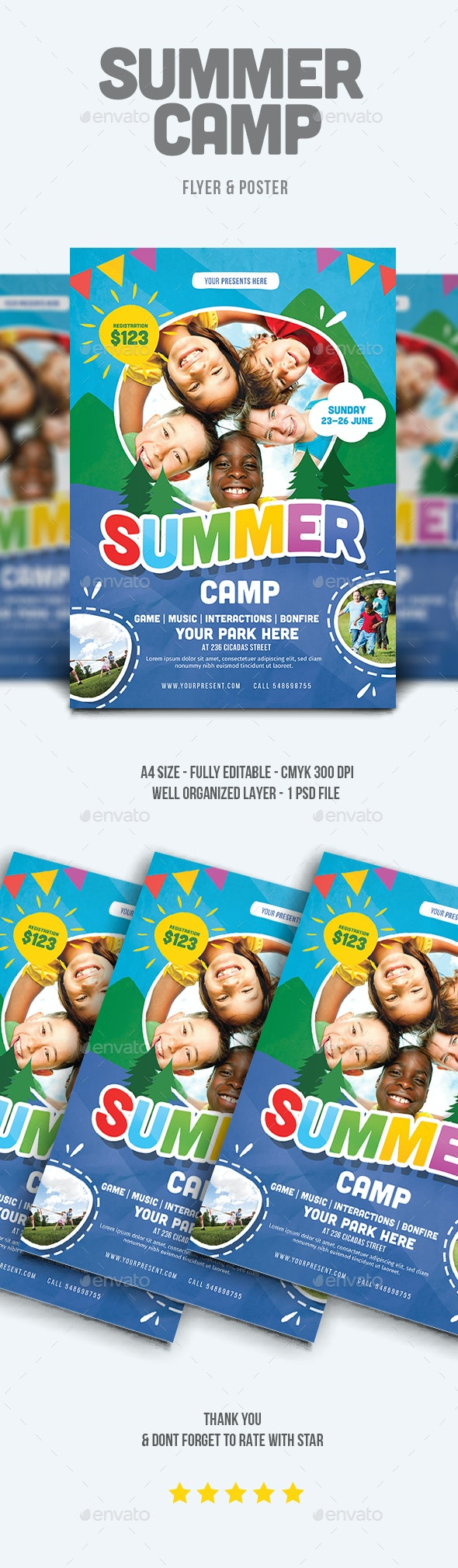 Summer Camp Flyer - Flyers Print Templates