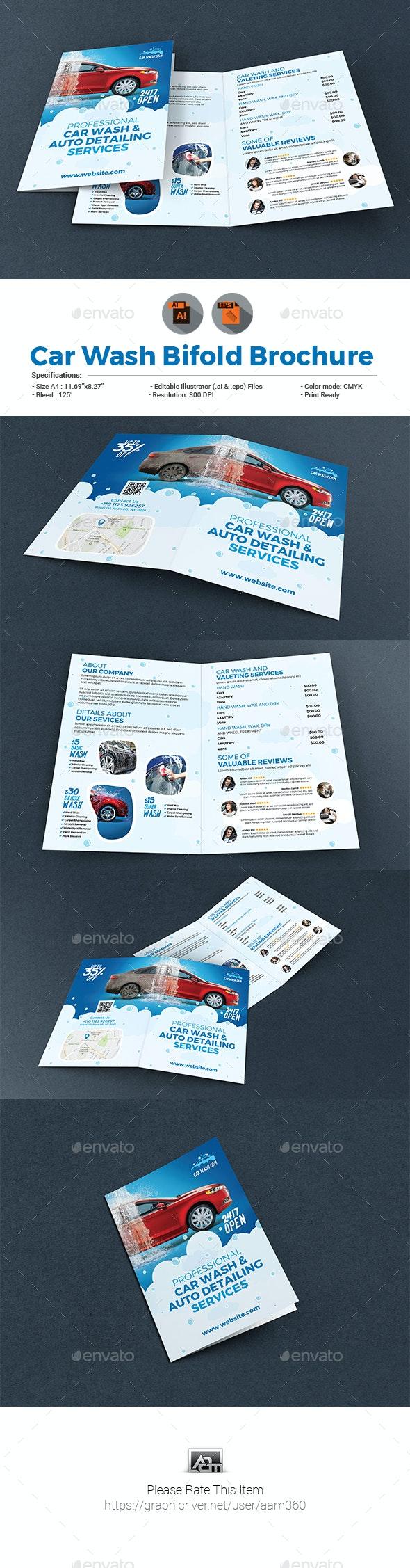 Car Wash Bifold Brochure - Informational Brochures