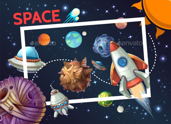 Cartoon Cosmic Template - Miscellaneous Vectors