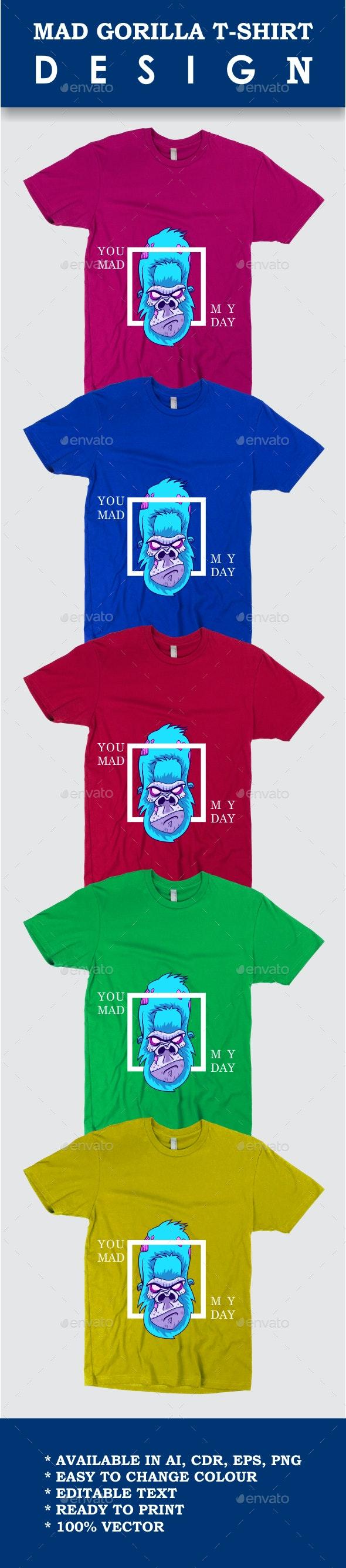 Mad Gorilla T-Shirt Design - Designs T-Shirts