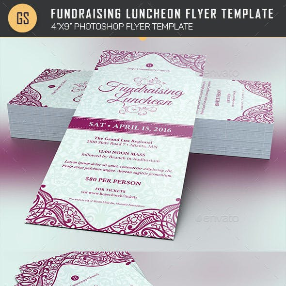 Fundraising Luncheon Flyer Template