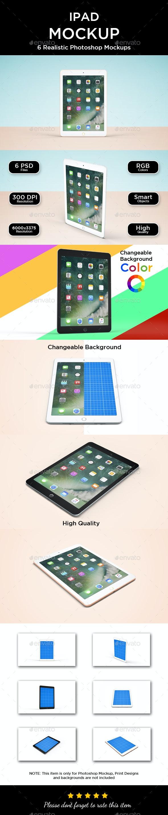 iPad Mockup - Displays Product Mock-Ups