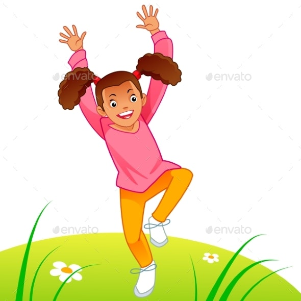 Little Girl Running - People Characters