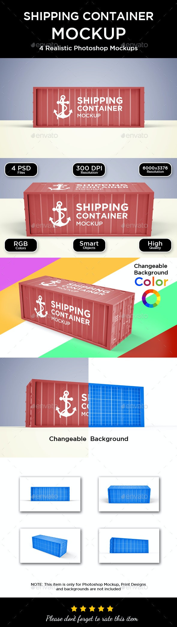 Shipping Container Mockup - Product Mock-Ups Graphics