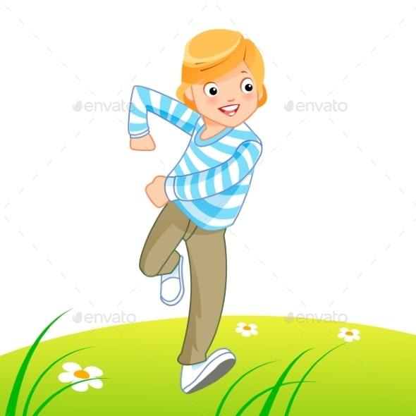 Happy Kid Running - Sports/Activity Conceptual