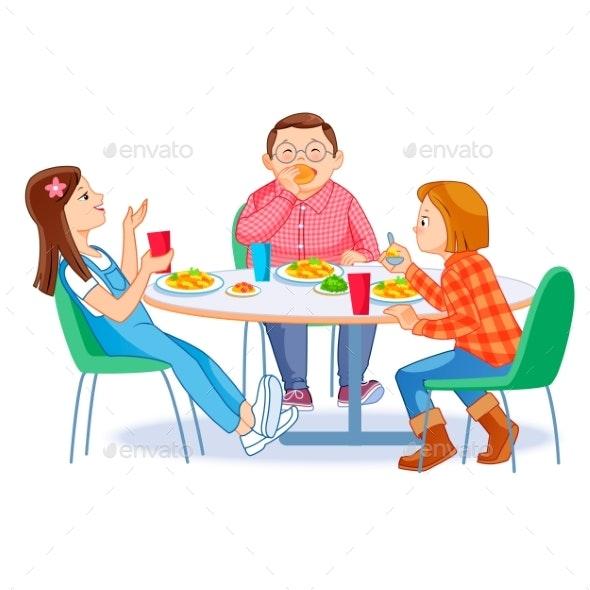 School Cafeteria - Miscellaneous Vectors