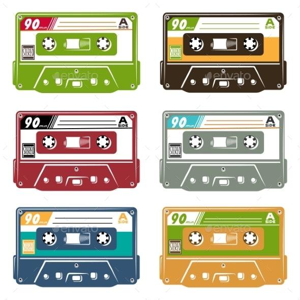 Set of Tape Cassettes - Retro Technology