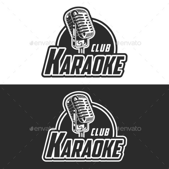 Shiny Karaoke Club Vector Label Design - Miscellaneous Vectors