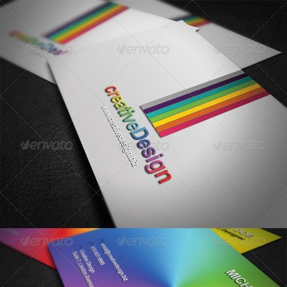 Rainbow Elegant Business Card