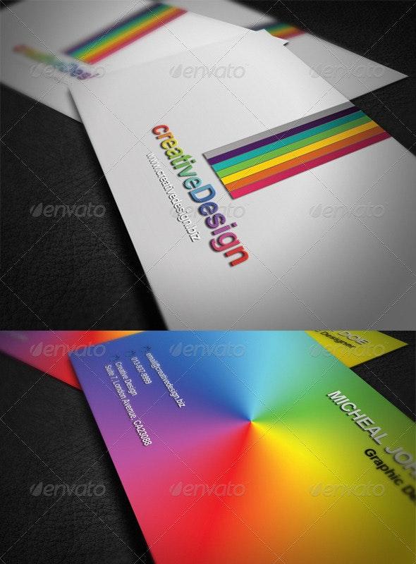 Rainbow Elegant Business Card - Corporate Business Cards