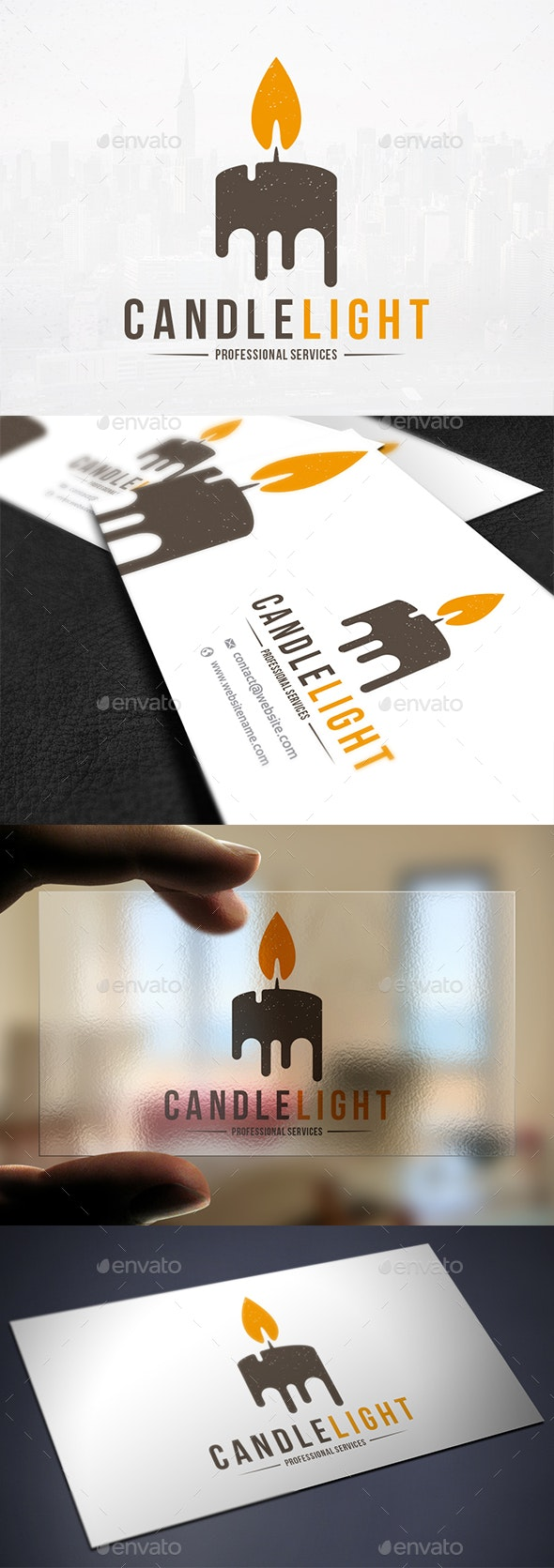 Candle Light Logo Template - Objects Logo Templates
