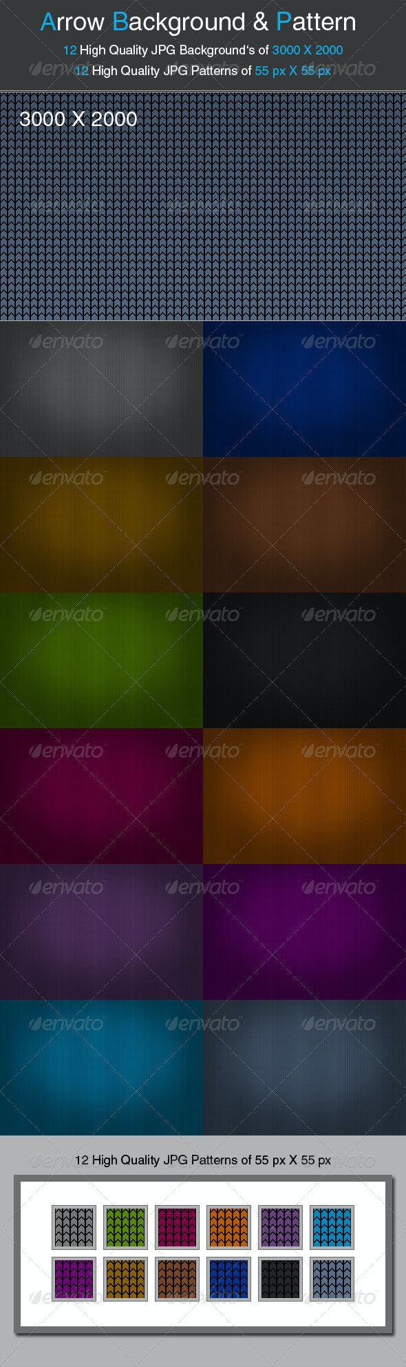 Arrow Background and Pattern - Backgrounds Graphics