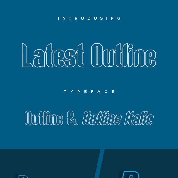 Latest Outline Typeface