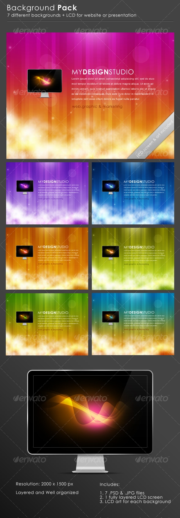 Website Backgrounds Pack - Backgrounds Graphics