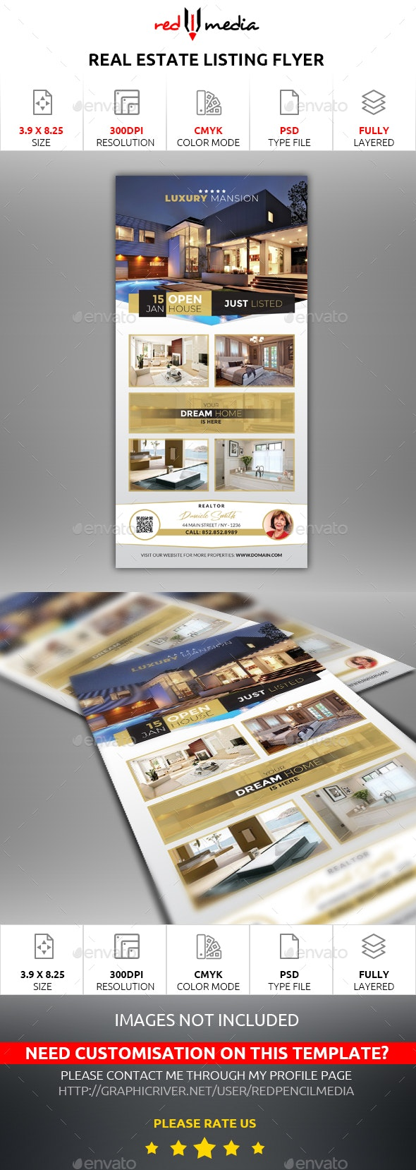 Real Estate Listing Flyer - Commerce Flyers