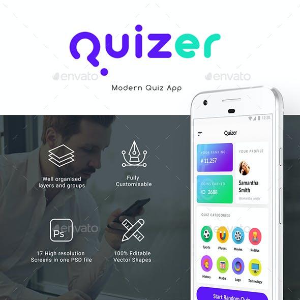 Quiz App Full UI kit | Quizer