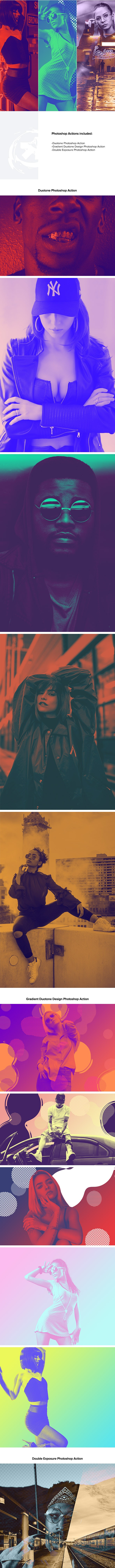 Duotone Photoshop Actions Bundle - Photo Effects Actions