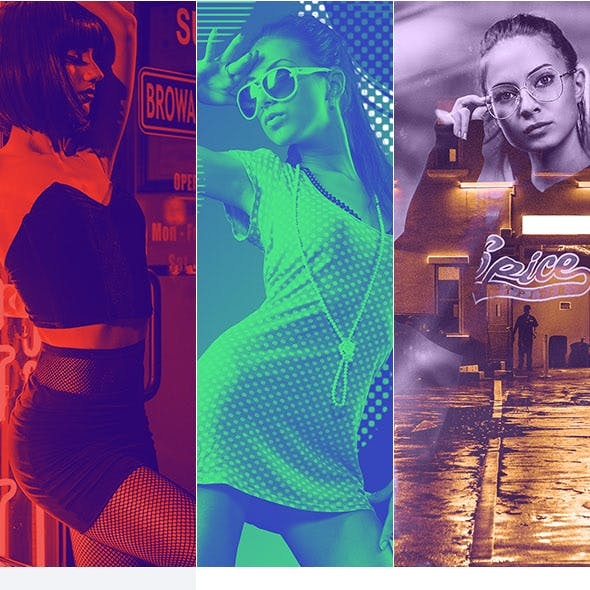 Duotone Photoshop Actions Bundle