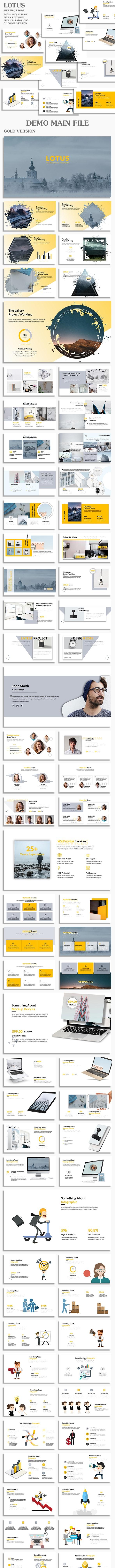 Lotus Multipurpose Google Slide Template - Google Slides Presentation Templates