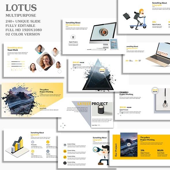 Lotus Multipurpose Google Slide Template