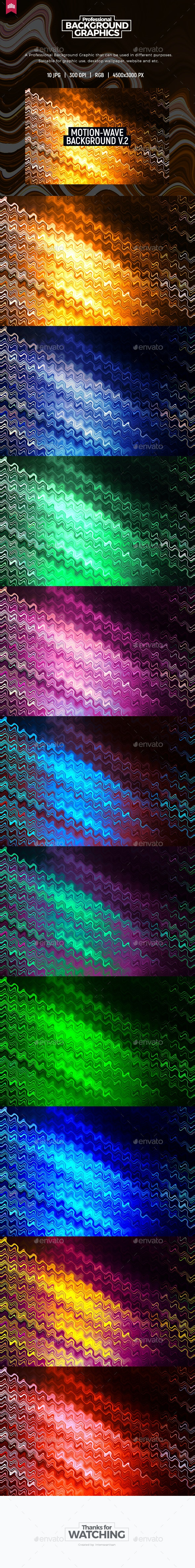 Motion Wave - Background V.2 - Abstract Backgrounds